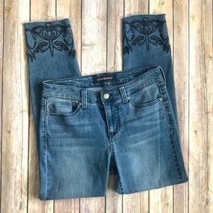 """LIVERPOOL """"the crop"""" embroidered jeans 2/26"""